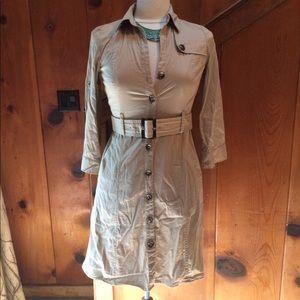 Ann Taylor Petites Safari Shirt Dress